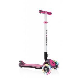 Globber Elite Deluxe Roller mit Batterielosen LED Rollen Kinder pink pink