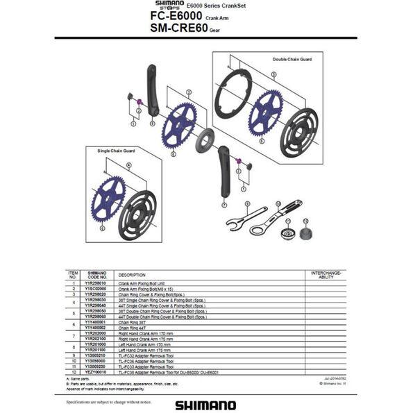 Shimano Steps FC-E6000 Kurbelarmset schwarz