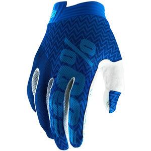 100% iTrack Gloves Kinder blue/navy blue/navy