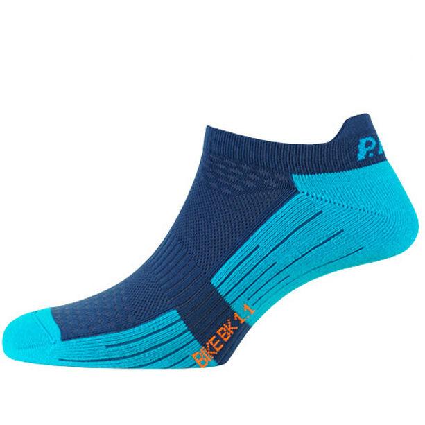 P.A.C. BK 1.1 Bike Footie Zip Socks Damen neon blue