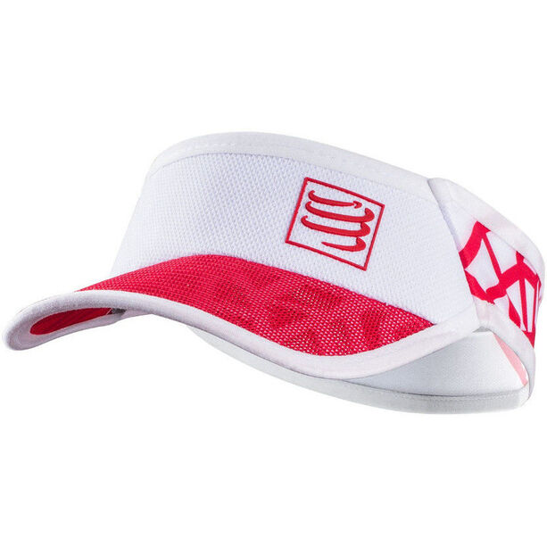 Compressport Spiderweb Ultralight Visor white-red