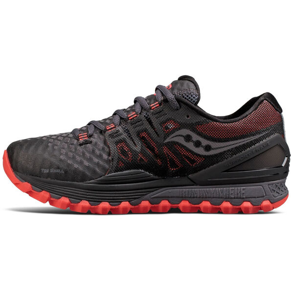 saucony Xodus Iso 2 GTX Running Shoes gray/coral