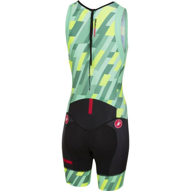 Castelli Short Distance Race Suit Damen pastel mint/yellow fluo/black