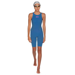 arena Powerskin R-Evo Full Body Short Leg Oper Back Badeanzug Mädchen blue/powder pink blue/powder pink