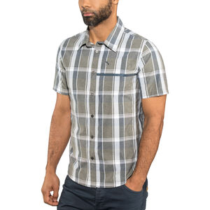Shimano Transit Short Sleeve Check Button Up Shirt Men Navy Blazer bei fahrrad.de Online