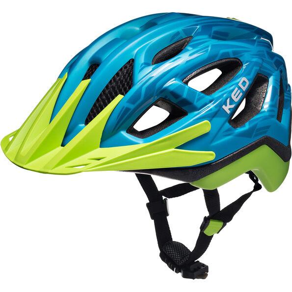 KED Pylos Helmet Blue Green Matt Glossy