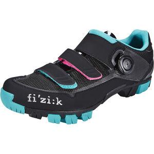Fizik M6B MTB Schuhe Damen schwarz/anthrazite/grün schwarz/anthrazite/grün