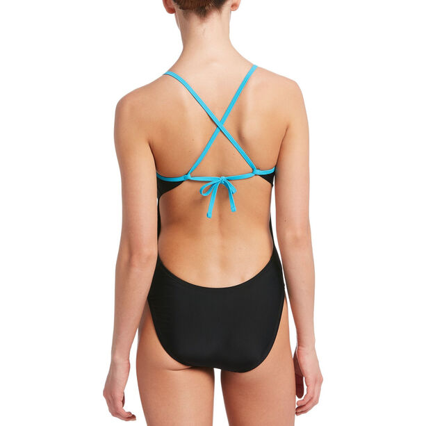 Nike Swim Solid Cross Back One Piece Damen black