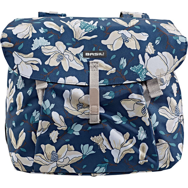 Basil Magnolia Double Pannier Bag 35l teal blue