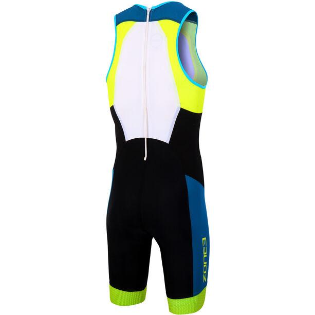 Zone3 Aeroforce Sub 220 ITU Design Reverse Zip Trisuit Herren black/teal/yellow