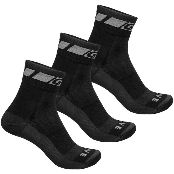GripGrab Merino Regular Cut Socks 3-Pack black
