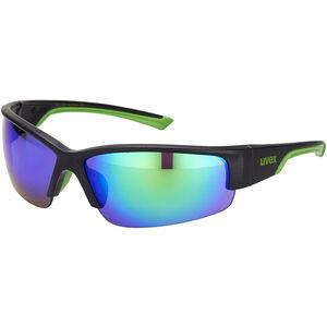 UVEX Sportstyle 215 Sportbrille black mat green/green black mat green/green