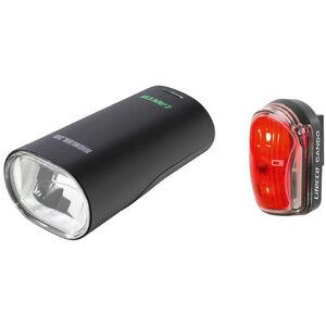 Litecco Highlux 30 + Cando Beleuchtungs Set schwarz schwarz