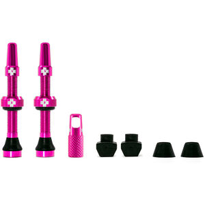 Muc-Off MTB & Road Tubeless Valve Kit 60mm pink pink