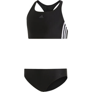 adidas Fit 3-Stripes 2 Piece Bikini Mädchen black/white