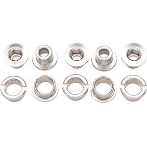 Problem Solvers Kettenblatt-Schrauben 6mm 1-fach 5 Stück silver silver