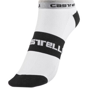 Castelli Lowboy Socks white/black