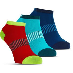 Salming Performance Ankle Socks 3 Pack blue/red/lapis blue/red/lapis