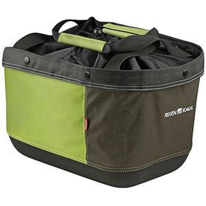 KlickFix Shopper Alingo GT Einkaufskorb für Racktime grün/braun grün/braun
