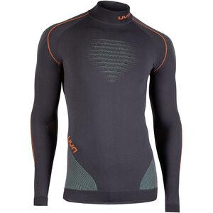 UYN Evolutyion UW LS Turtle Neck Shirt Men Charcoal/Green/Orange Shiny bei fahrrad.de Online