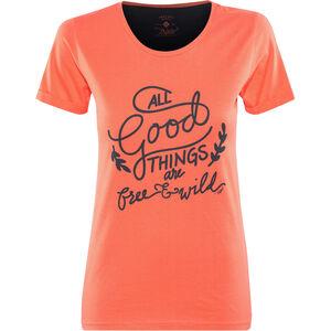 Triple2 Laag Handwrite T-Shirt Women Damen living coral living coral