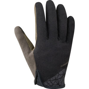 Shimano Transit Long Gloves Herren black black