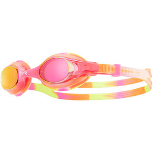 TYR Swimple Tie Dye Mirrored Goggles Kinder yellow/pink yellow/pink