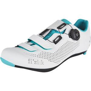 Fizik R4B Rennradschuhe Damen weiß/emerald grün weiß/emerald grün