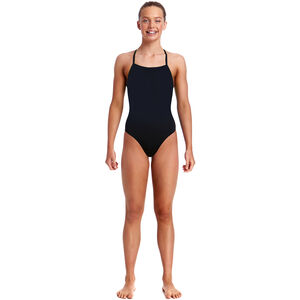 Funkita Strapped In One Piece Swimsuit Mädchen still black solid still black solid