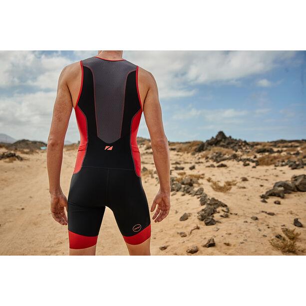 Zone3 Aquaflo Plus Trisuit Herren black/grey/red