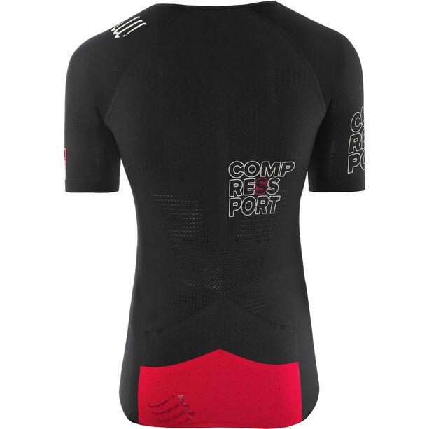 Compressport Triathlon Postural Aero Shortsleeve Top Herren black