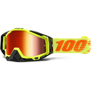 100% Racecraft Anti Fog Mirror Goggles attack yellow attack yellow