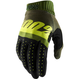 100% Ridefit FA18 Gloves army green/fluo lime/fatigue army green/fluo lime/fatigue