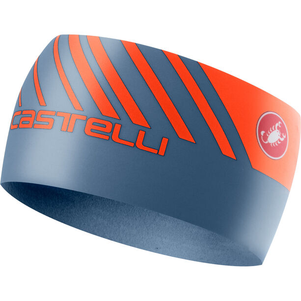 Castelli Arrivo 3 Thermo Headband light steel blue/orange