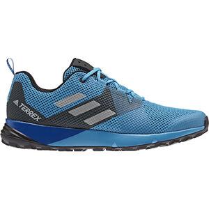 adidas TERREX Two Shoes Herren shock cyan/gretwo/core black shock cyan/gretwo/core black