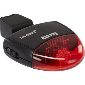 Busch + Müller IX-RED Batterie-Rücklicht schwarz/rot schwarz/rot