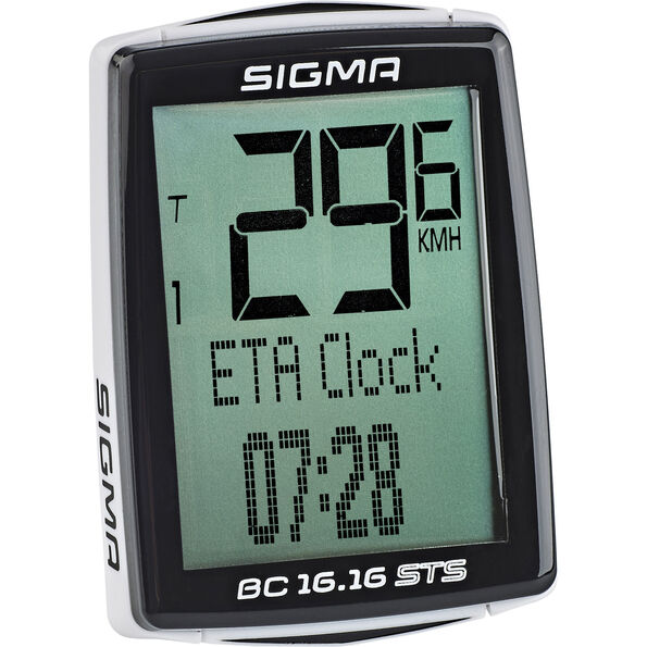 SIGMA SPORT BC 16.16 STS CAD Fahrradcomputer kabellos schwarz