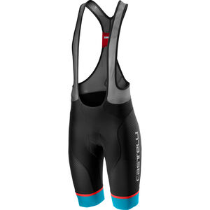 Castelli Free Aero Race 4 Bib Shorts Herren black/sky blue black/sky blue