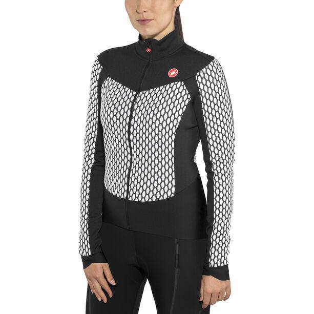 Castelli Sfida Full-Zip Jersey Damen white/black