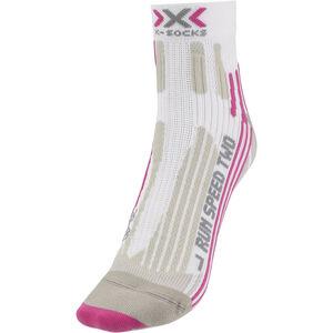 X-Socks Run Speed Two Socks Ladies White/Fuchsia