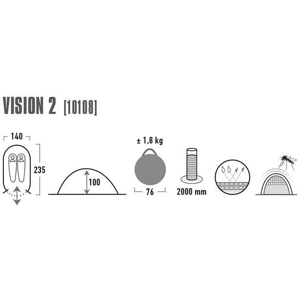 High Peak Vision 2 Tent green/phantom