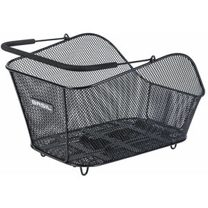 Basil Icon M Rear Wheel Basket Bag with MIK adapter plate schwarz schwarz
