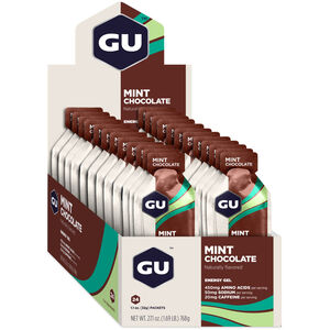 GU Energy Gel Box 24x32g Mint Chocolate