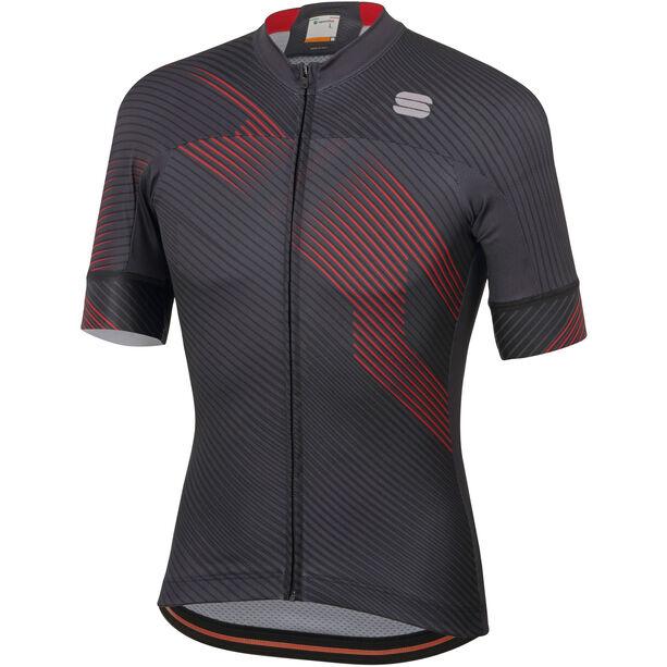Sportful Bodyfit Team 2.0 Faster Jersey Herren anthracite/red