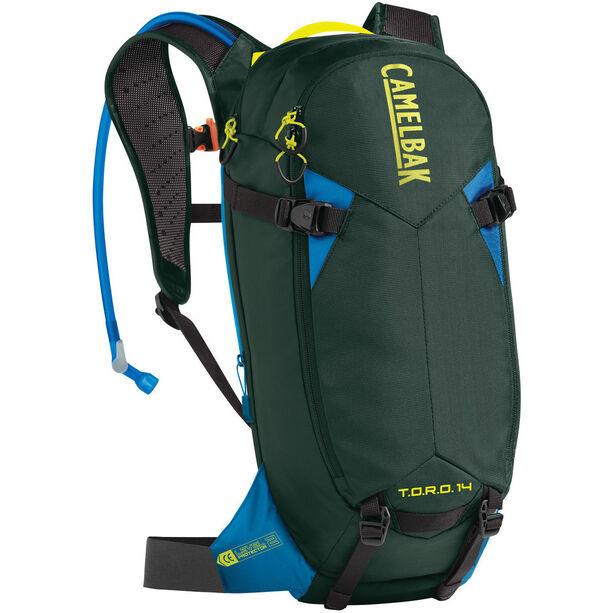 CamelBak T.O.R.O. Protector 14 Backpack dry deep forest/brilliant blue