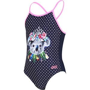Zoggs Tribal Koala Classicback Swimsuit Mädchen navy navy