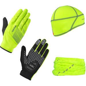 GripGrab Hi-Vis Cycling Essentials Geschenkbox 3er Pack yellow hi-vis yellow hi-vis