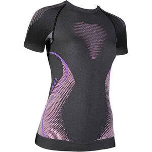 UYN Evolutyon Melange UW SS Shirt Damen anthracite melange/raspberry/purple anthracite melange/raspberry/purple