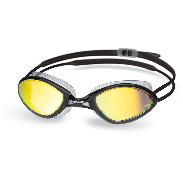 Head Tiger Race Mirrored LiquidSkin Goggles black - smoke