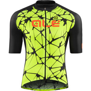 Alé Cycling Cracle Shortsleeve Jersey Herren fluo yellow-black-fluo orange fluo yellow-black-fluo orange
